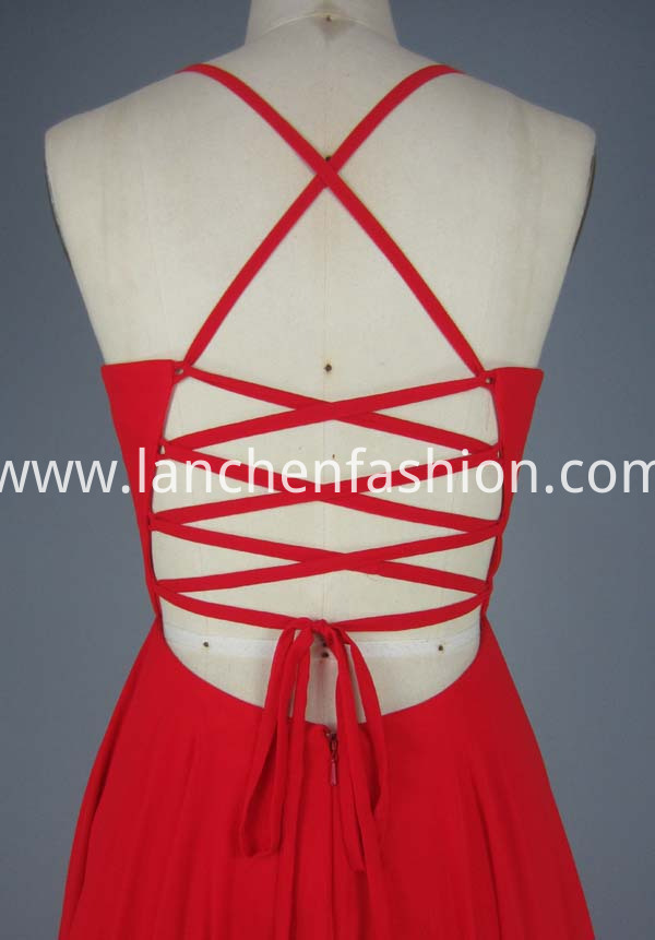 red prom dress short